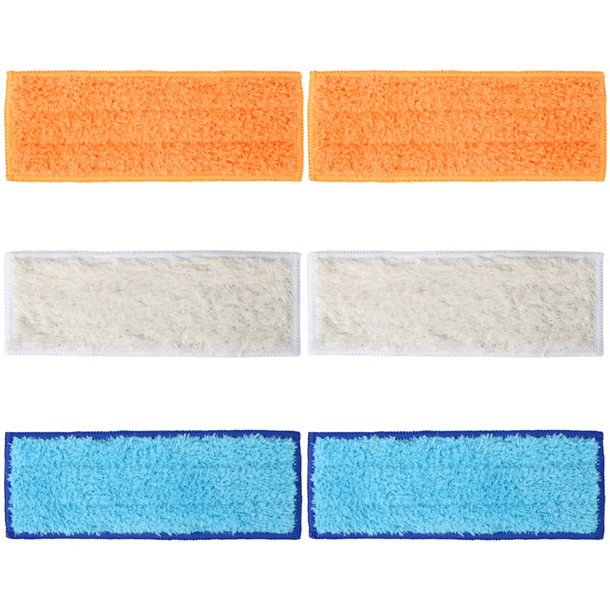 Wolf Filter 6 Packs Washable Mopping Pads for iRobot Braava Jet 240 241 (2 Wet Mopping Pads, 2 Damp Sweeping Pads and 2 Dry Sweeping Pads)
