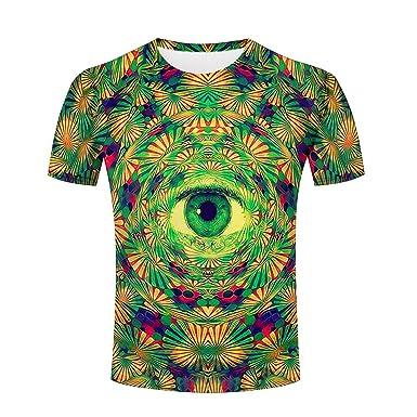 102762b9df87 Amazon.com  3D Shirts Men Tie-Dye Flower Funny All Over Print T ...