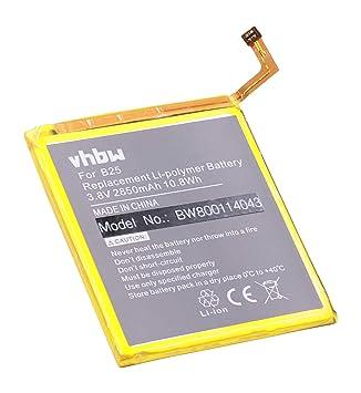 vhbw Litio polímero batería 2850mAh (3.8V) para móvil ...
