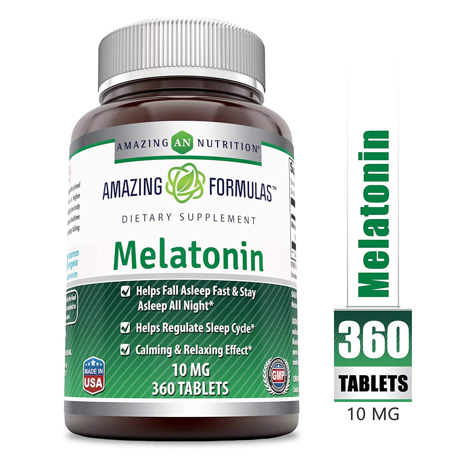 Amazon.com: Amazing Formulas Melatonina – Tabletas de 10 mg ...