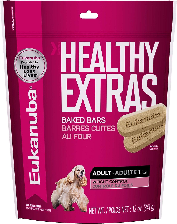 EUKANUBA Healthy Extras Adult Weight Control Dog Treats, 12 oz bag