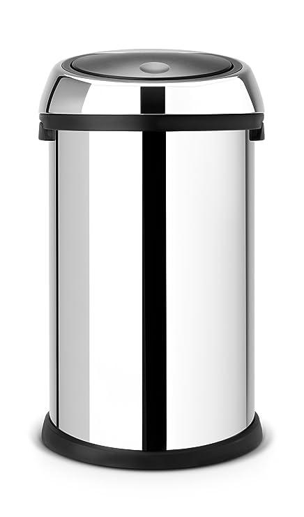 Brabantia Touch Bin 50 Liter Platinum.Brabantia Touch Bin 50 L Brilliant Steel