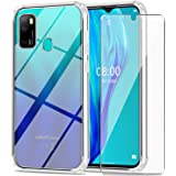 Ulefone Note 9P Case with Tempered Glass Screen Protector Crystal Soft Clear Shockproof TPU Bumper Transparent Silicone Prote