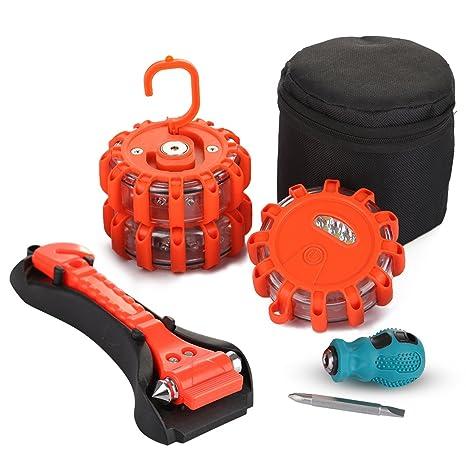 Amazon Com Czc Auto 6 Pack Emergency Safety Kit Bundle Include 3