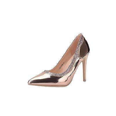 Mila Lady (Celeste Embellished Sparkles Platform Point Toe Lady Heeled Shoes, | Pumps
