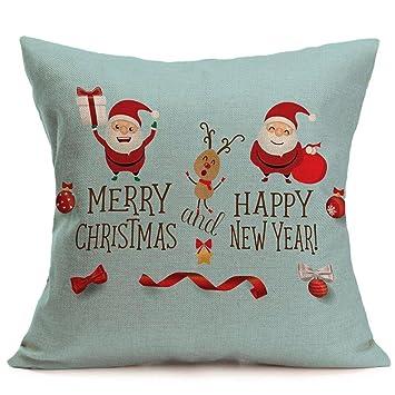 Amazon.com: longay Feliz Navidad Funda De Almohada cuadrado ...