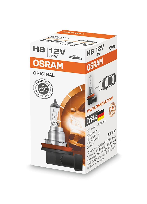 OSRAM Original 12V H8 halogen headlamp bulb 64212 1 piece in folding box Osram Ltd.