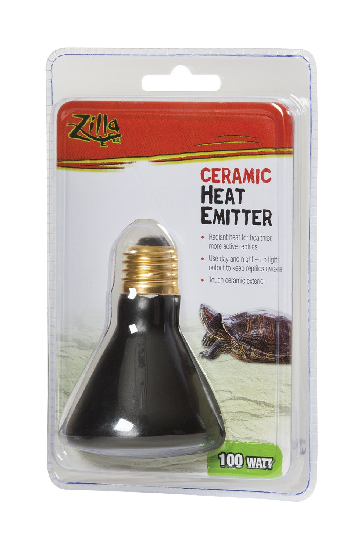 Zilla Reptile Terrarium Heat Lamps Emitter, 100 Watt