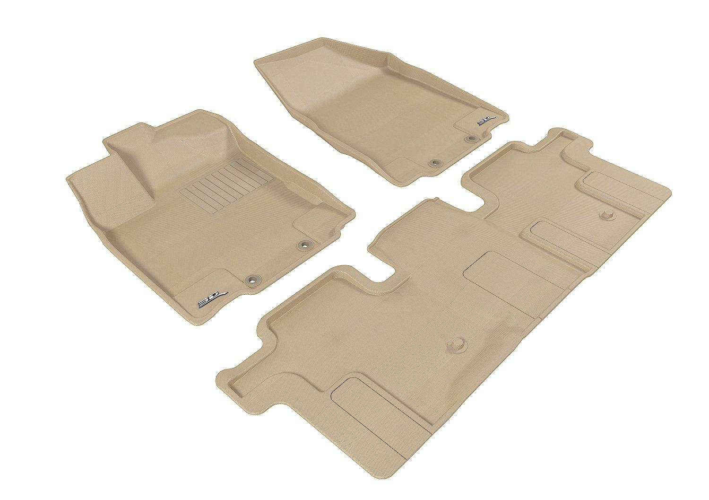 Rubber floor mats nissan pathfinder 2013 - Amazon Com 3d Maxpider Complete Set Custom Fit All Weather Floor Mat For Select Nissan Pathfinder Models Kagu Rubber Tan Automotive
