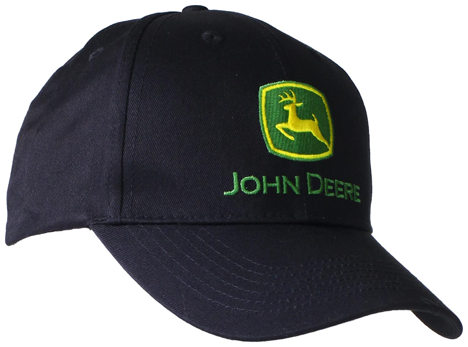 ebe95ac250fa4 Amazon.com  John Deere Embroidered Logo Baseball Hat - One-Size - Men s -  Black  Clothing