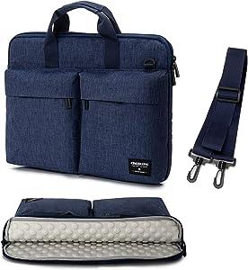 KINGSLONG 15.6 Inch Laptop Bag for Men Women Messenger Bag Laptop Sleeve Case Computer Bags with Shoulder Strap Handbag PC Briefcase Crossbody Bags, Blue