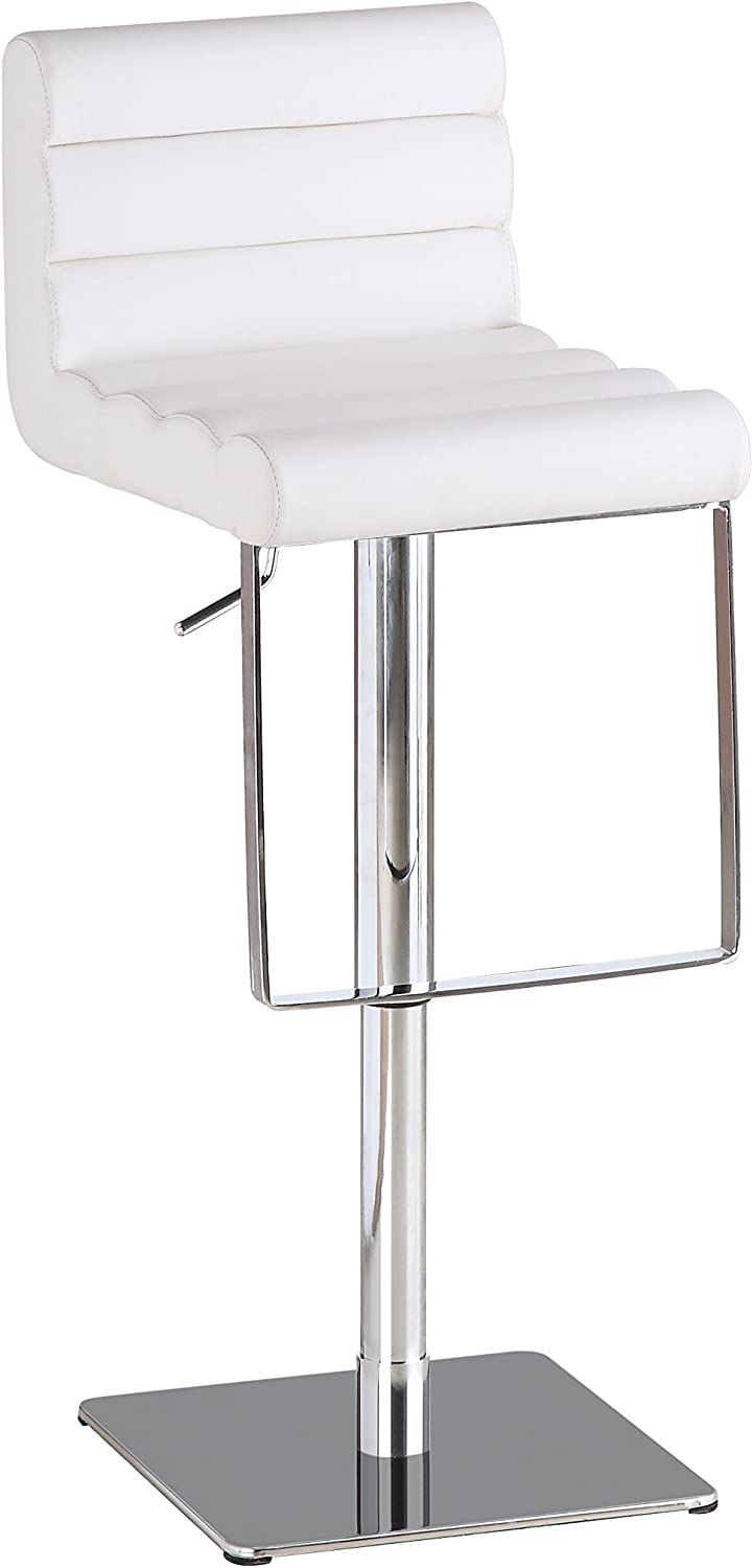 J and M Furniture C192-3 Swivel Barstool, White