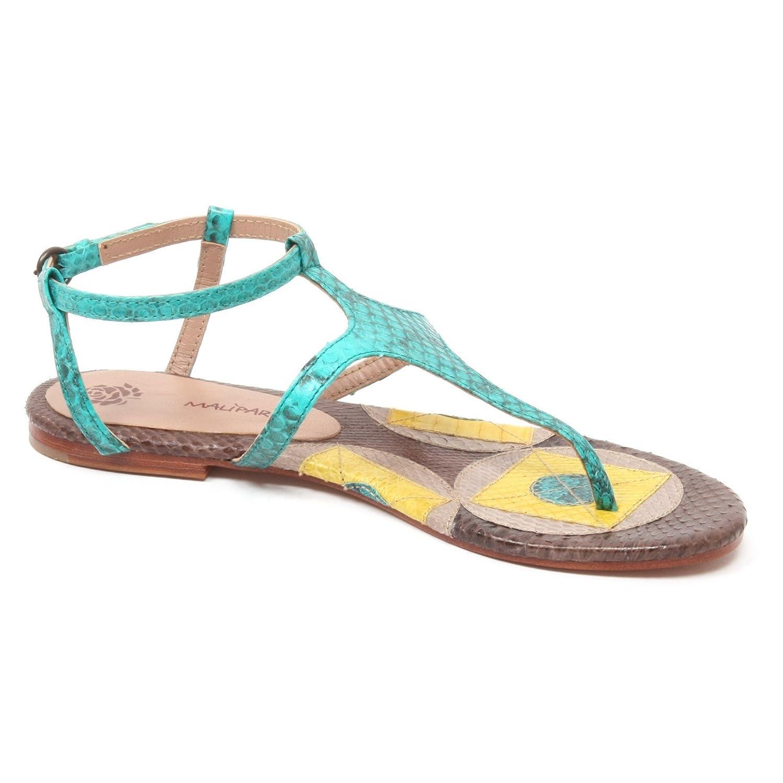 B4966 infradito donna MALIPARMI GEOMETRIC WHIPS sandalo turchese shoe woman  [37]: Amazon.it: Scarpe e borse