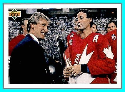 more photos fd0c0 20817 Amazon.com: 1991-92 Upper Deck #501 Canada Cup Checklist ...