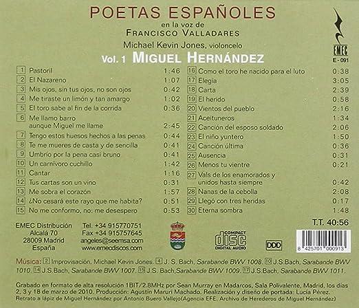 MIGUEL HERNANDEZ - Poetas Espanoles. Miguel Herna - Amazon ...