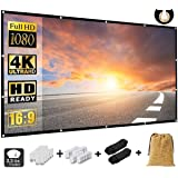 NMEPLAD Projector Screen 150 Inch,Portable Movie Screen for Outdoor Indoor,4K 16:9 HD Foldable Wrinkle-Free Screen(1.1 GAIN,1