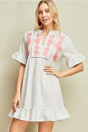 b1088cd1c80 Entro Pinstripe Dress at Amazon Women s Clothing store