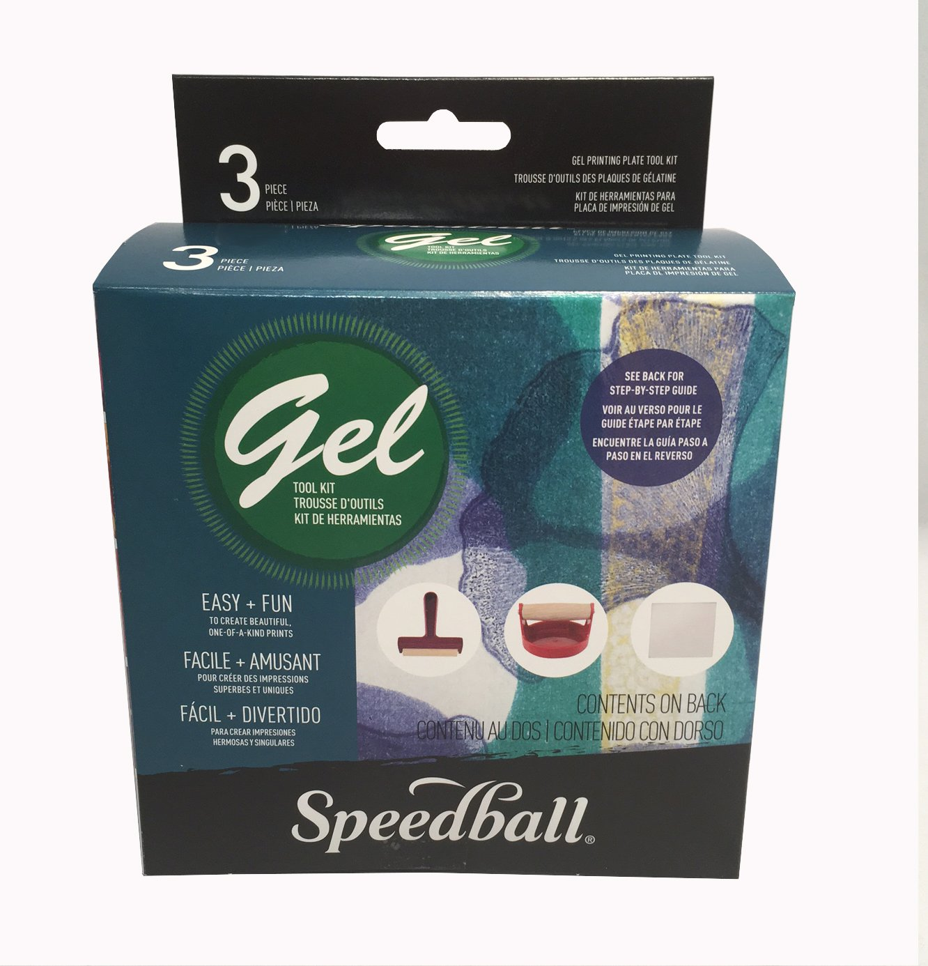 Plancha de Gel para Impresiones SPEEDBALL Kit Basico 3pc