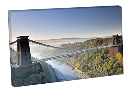 Prints canvas wall art easy hang famous clifton suspension bridge prints canvas wall art easy hang famous clifton suspension bridge bristol england uk colour 30x20 inch reheart