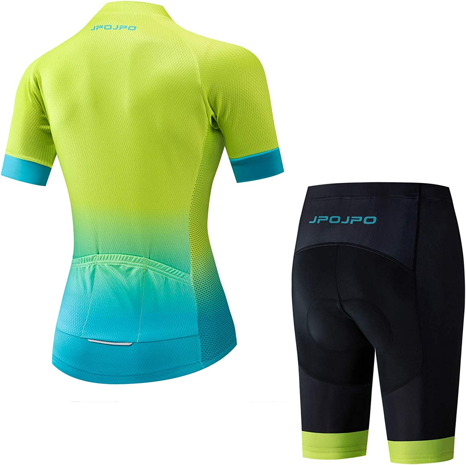 Cycling Jersey Women Set Short Sleeve+5D Padded Bicycle Shorts Breathable Quick-Dry 3-Pockets S-3XL