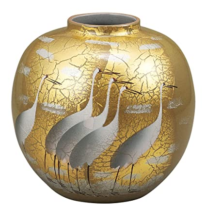 Amazon Kutani Yakiware Vase Gold Leaf Home Kitchen
