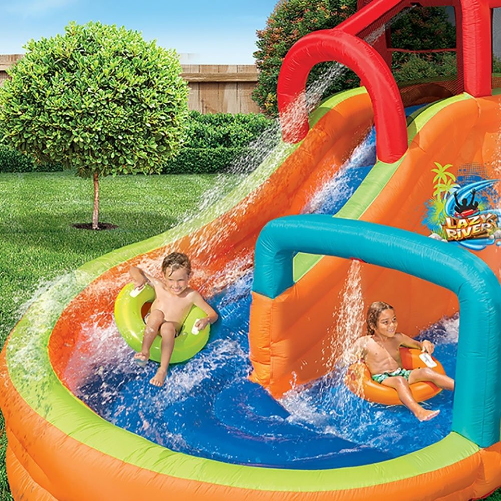 BANZAI Kids Inflatable Outdoor Lazy River Adventure Water Park Slide and Pool by BANZAI (Image #5)