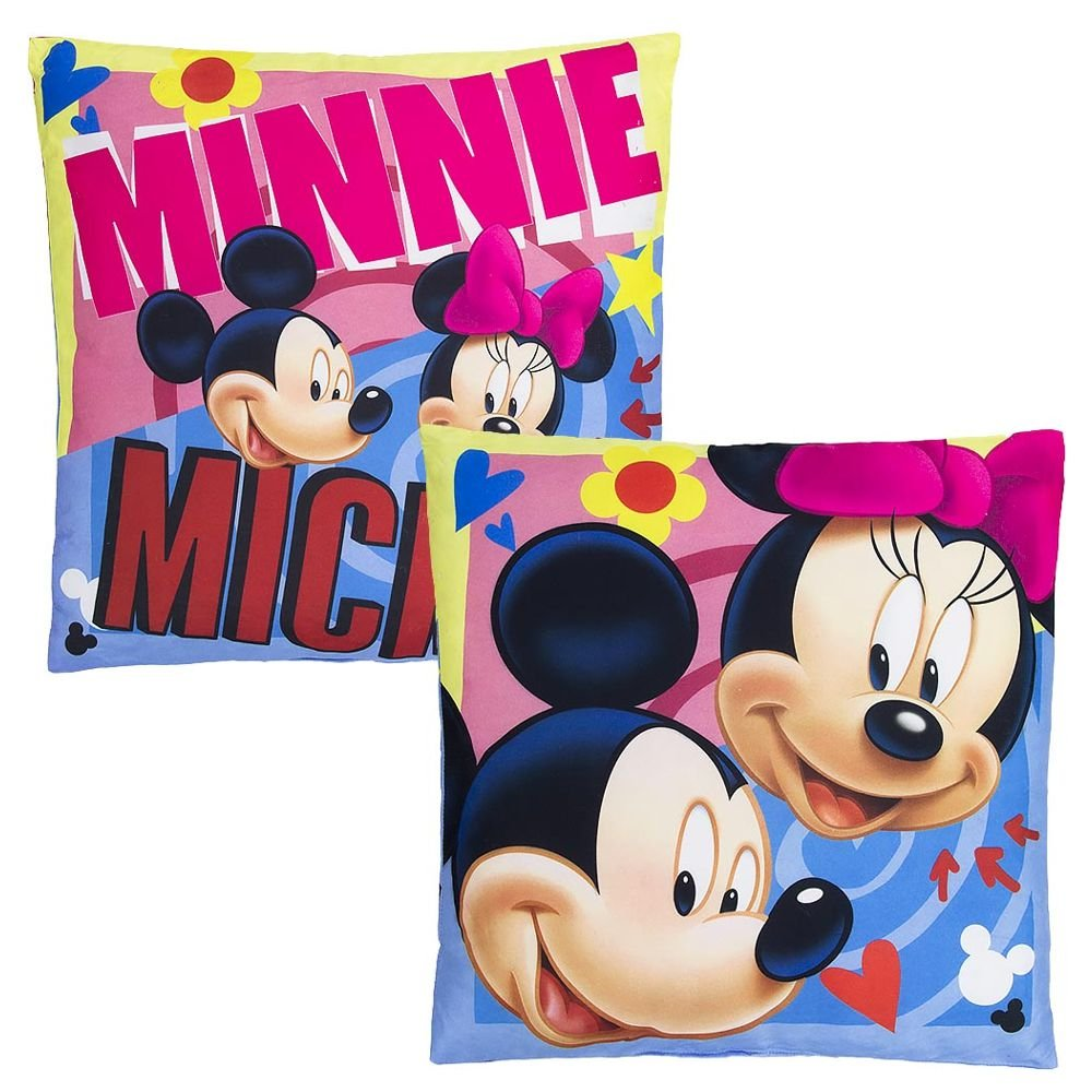 Mickey & Minnie | Coussin 40 x 40 cm | Disney Mickey Mouse | Enfants Oreiller Whitehouse