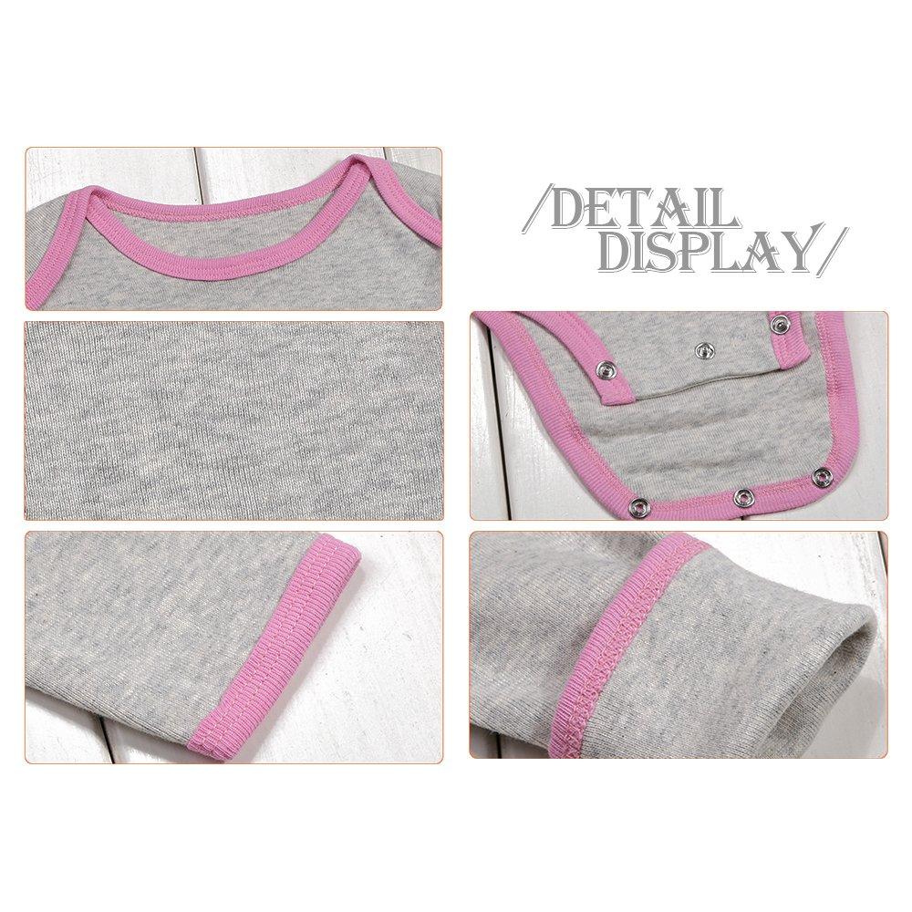 5 BOZEVON Baby Boys Girls Comfortable Long//Short Sleeve Bodysuit Onesies Baby Romper 0-24 Months Pack