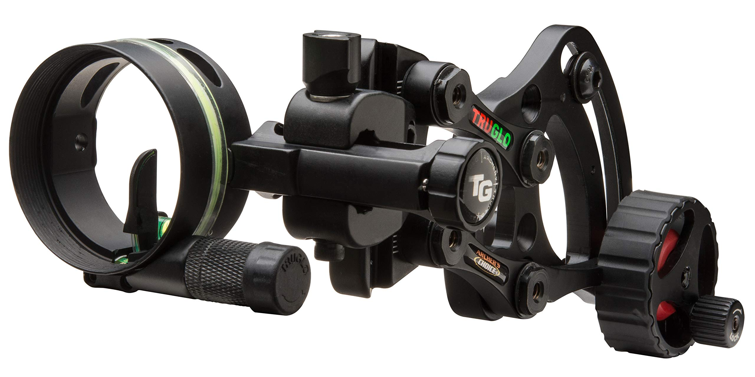 TRUGLO RANGE-ROVER Series Single-Pin Moving Bow Sight, Black, Left-Handed, .019'' Pin, Toolless Micro-Adjustable Windage