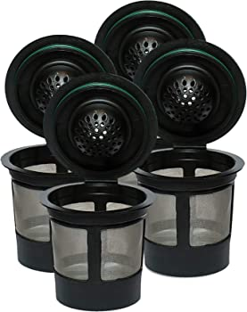 K Cups Resuable For Keurig 2.0 & 1.0 Brewers Universal Fit For Easy To Use Refillable Single Cup Coffee Filters