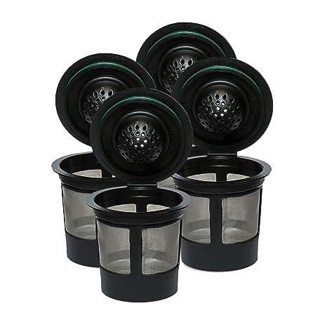 Amazon.com: 4filtros de tela reutilizable K-CUP solo ...