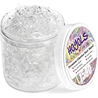 Hoyols Clear Hair Elastic Rubber Bands No Damage Ties for Ponytail Braid Holder 1500 Piece Pack for Girl