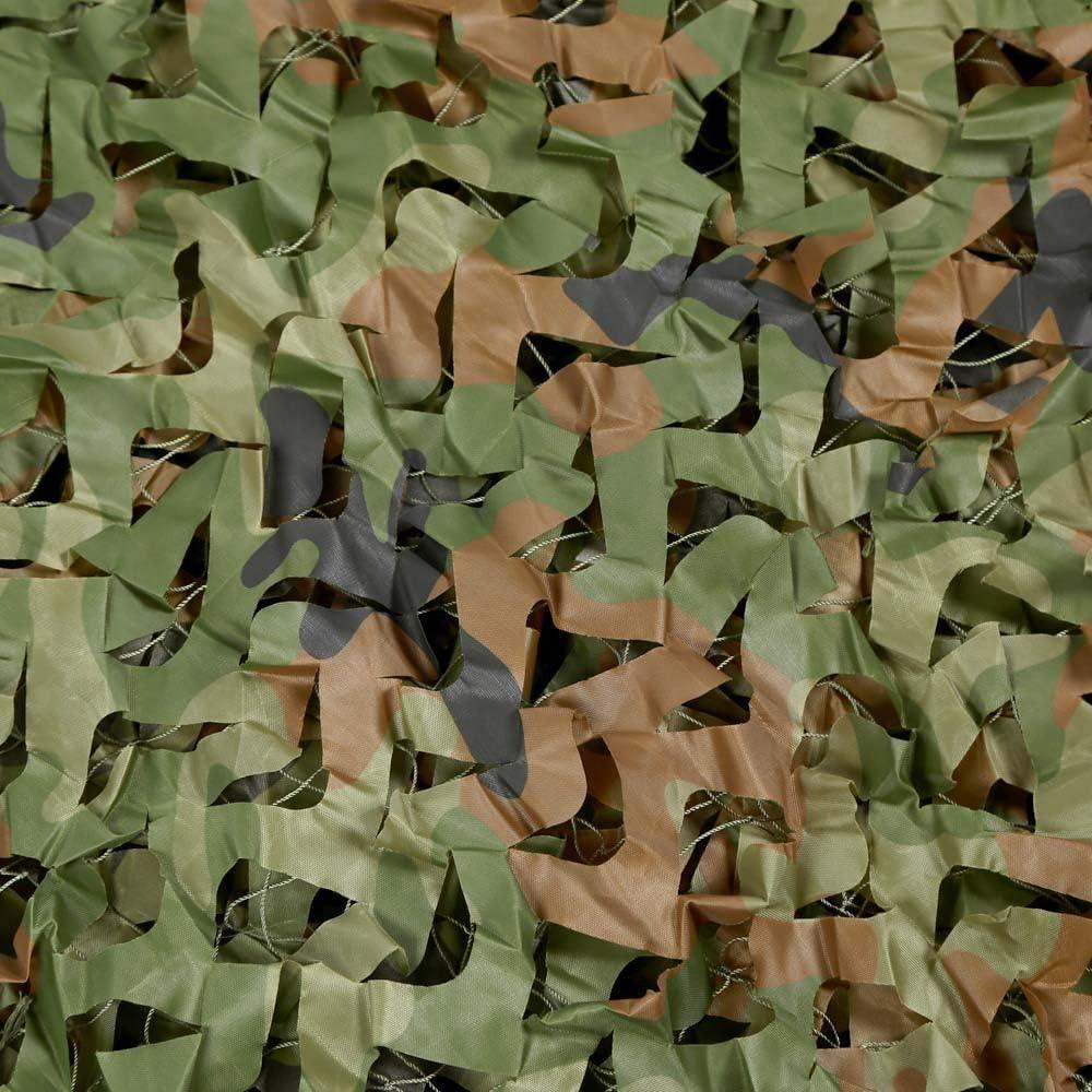 LHL Red de Camuflaje antiaéreo de la Selva, Red de Camuflaje para Exteriores, Tela de Oxford, Tienda de sombrillas, Tienda de campaña para armar sombrillas 9×10M
