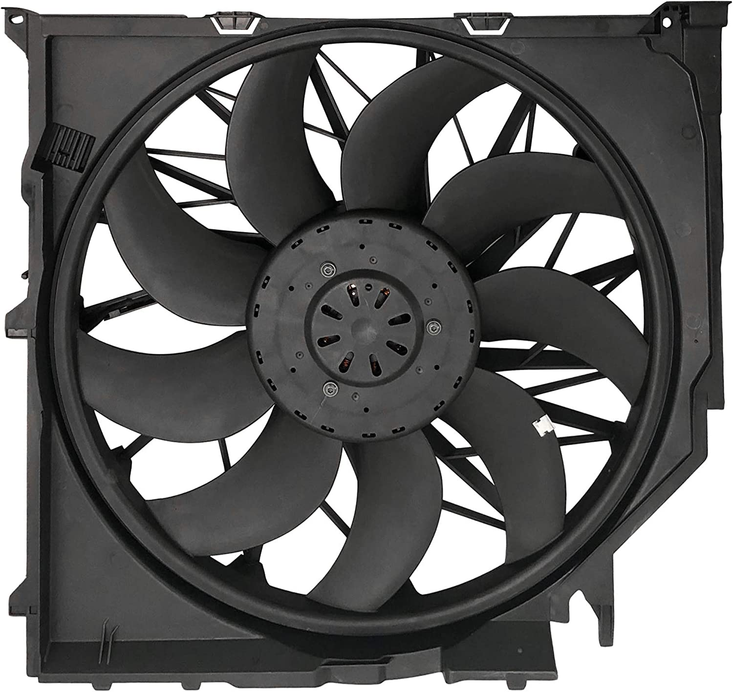 BOXI 600W Brushless Cooling Fan Assembly For BMW X3 E83 2004 2005 2006 2007 2008 2009 2010 OE# 17113442089