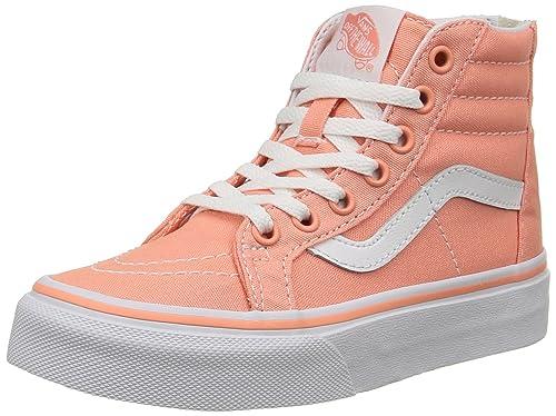 Sneakers Hautes Hi Mixte Sk8 Vans Orange Flower Enfant Zip desert Bnf7tq