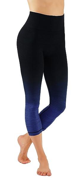6631fea4c4 Pro Fit Women`s Yoga Capri Pants Ombre Print Body-Shaping Full Length  Workout Leggings