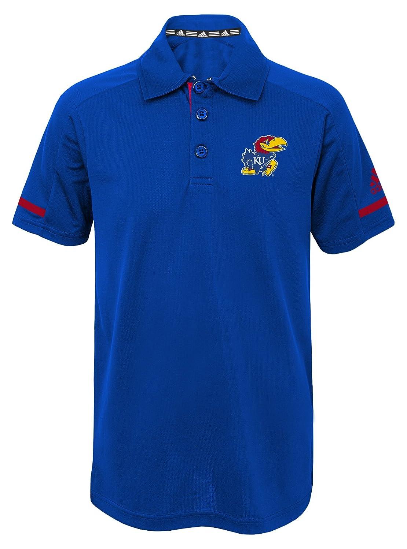 NCAA Kansas Jayhawks Youth Boys Premium Short Sleeve Polo L 14 16 Collegiate Royal
