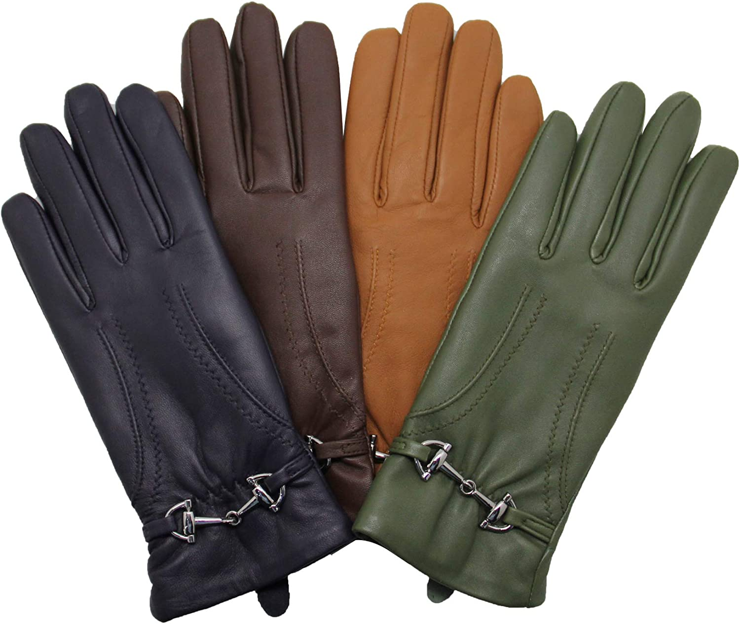 YISEVEN Soft Womens Winter Leather Warm Driving Guantes de piel de cordero 100% puro