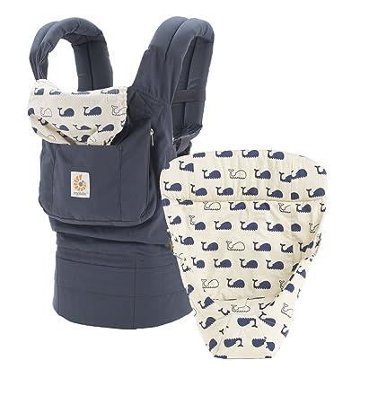 Ergobaby 3 Position Original Bundle Of Joy With Easy Snug Infant Insert Marine Navy