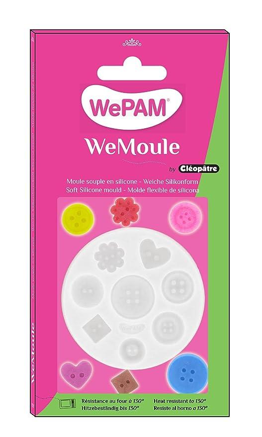 WePAM - PF00MD01 - WeMoule - Molde de silicona para moldear varios botones con porcelana fría