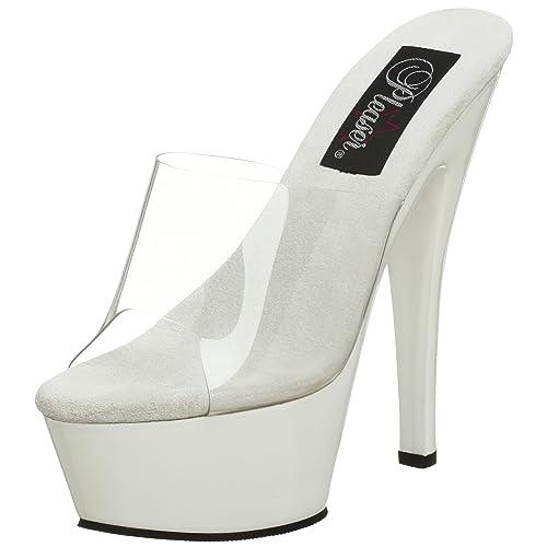 Pleaser ADORE-701 - Zapatos para Mujer, Color Weiß (clr/Wht), Talla 38
