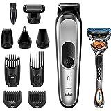 Braun Recortadora MGK7220 10 en 1, Máquina recortadora de barba, set de depilación corporal y cortapelos para hombre…