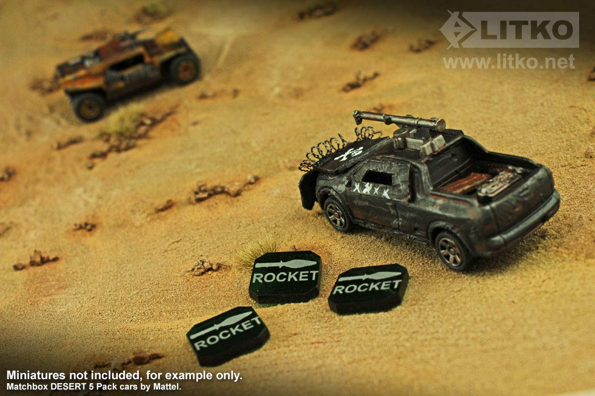 Amazon.com: Gaslands Miniatures Game Rocket Ammo Tokens ...