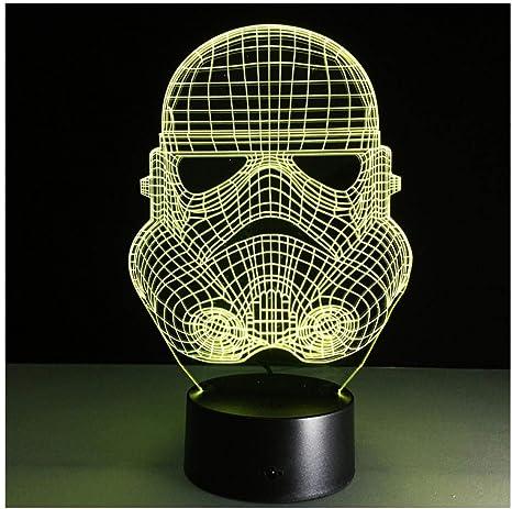 Star Night Light 3D LED Lámpara de mesa de escritorio Clone 7 ...
