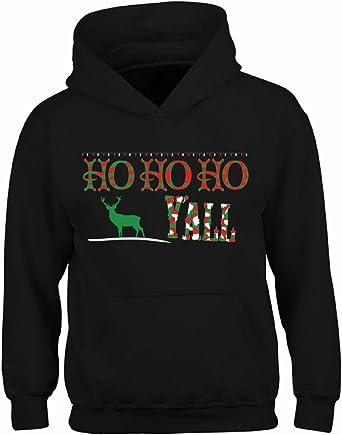 Ho Ho Ho Skull Santa UGLY CHRISTMAS Sweater Reindeer Men Women HOODIE Black
