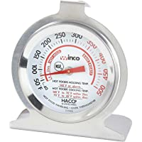 Winco termómetro de horno con dial de 2 pulgadas con gancho y base de panel