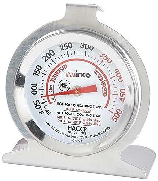 Winco (Dial horno termómetro con gancho y panel Base