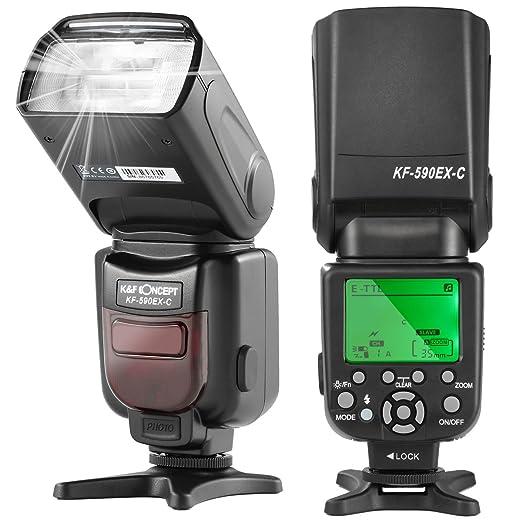 10 opinioni per K&F Concept Flash per Canon Reflex Speedlite E-TTL NG56 Secondario S1/S2