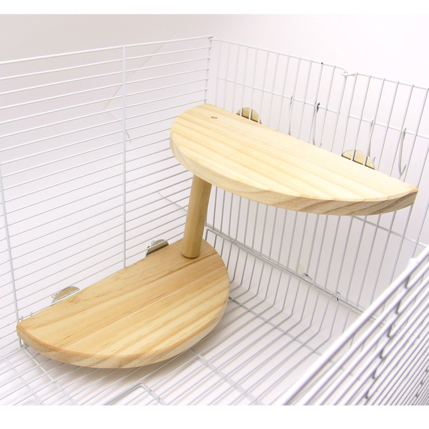 Niteangel 2-Level Wooden Platform for Chinchilla, Hamster and Other Small Animals by Niteangel