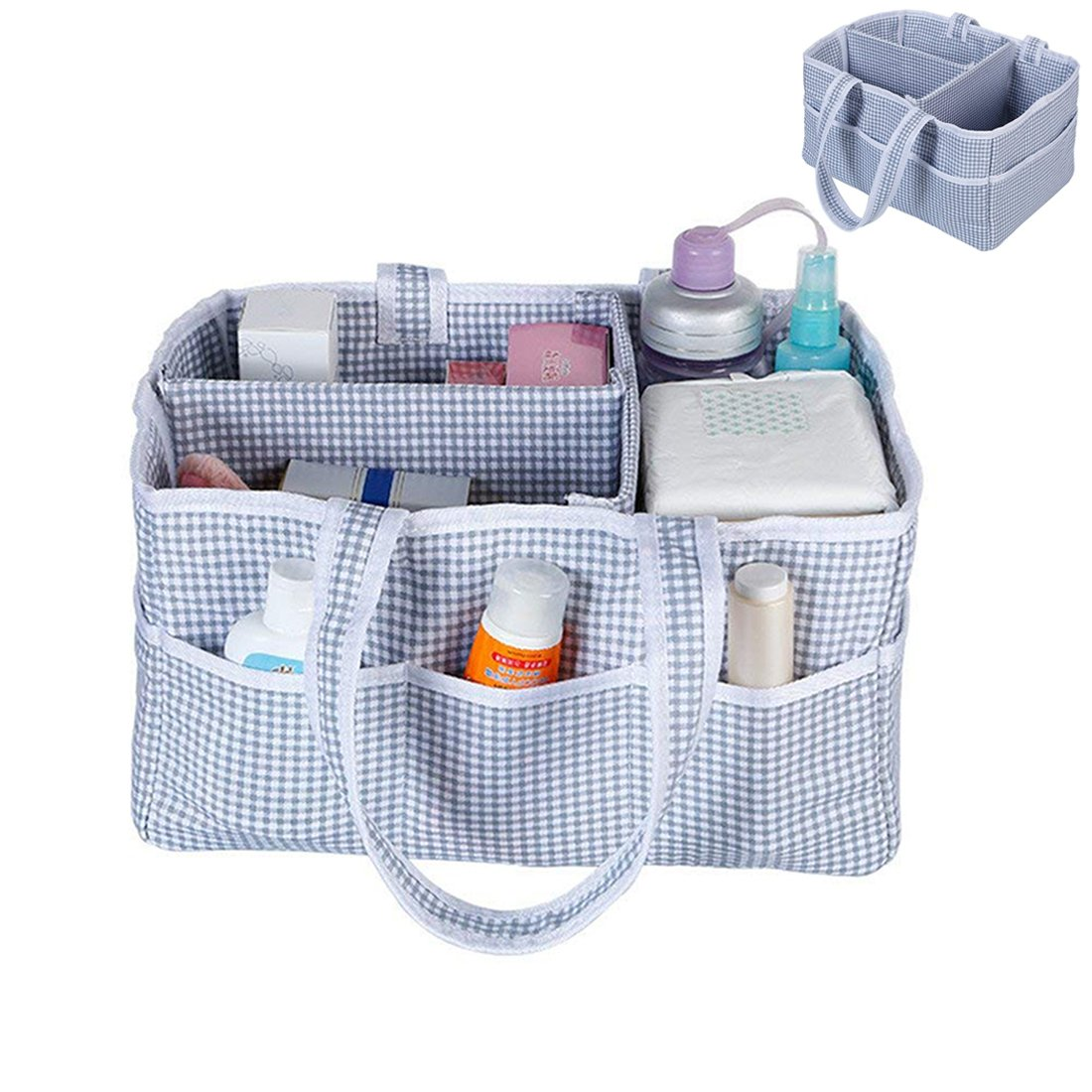 Ayans Baby Diaper Caddy Organizer - Nursery Storage Bin Nappy Changing Table Basket | Large Portable Tote Bag for Diapers Wipes Toys, Great gift for Baby Shower, Newborn Registry